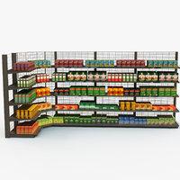 3D model tea rack