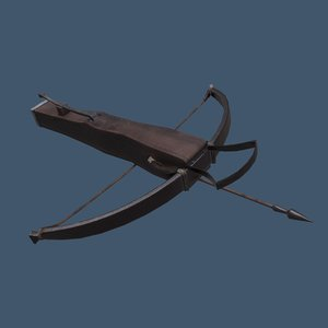 3D model crossbow bolt