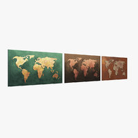worldmap copper 3D model