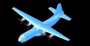 shorts belfast aircraft solid 3D model