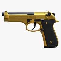 Beretta M9 Gold - Full Detail