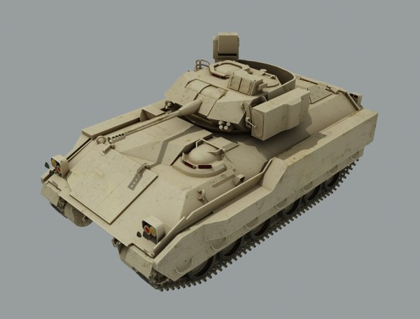 3D bradley fighting vehicle