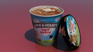 3D ben ice cream model