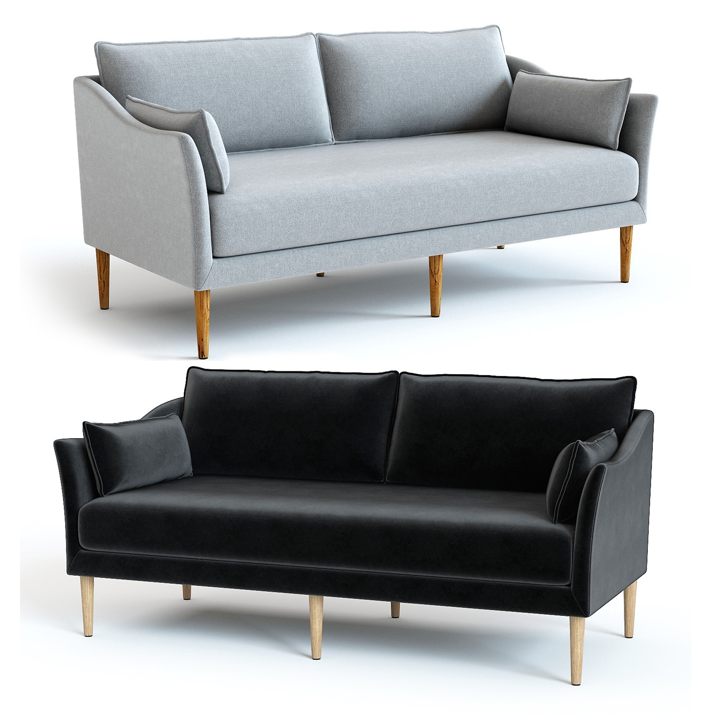 Sensational West Elm Antwerp Loveseat Machost Co Dining Chair Design Ideas Machostcouk
