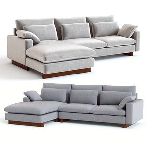 3D model west elm harmony sectional