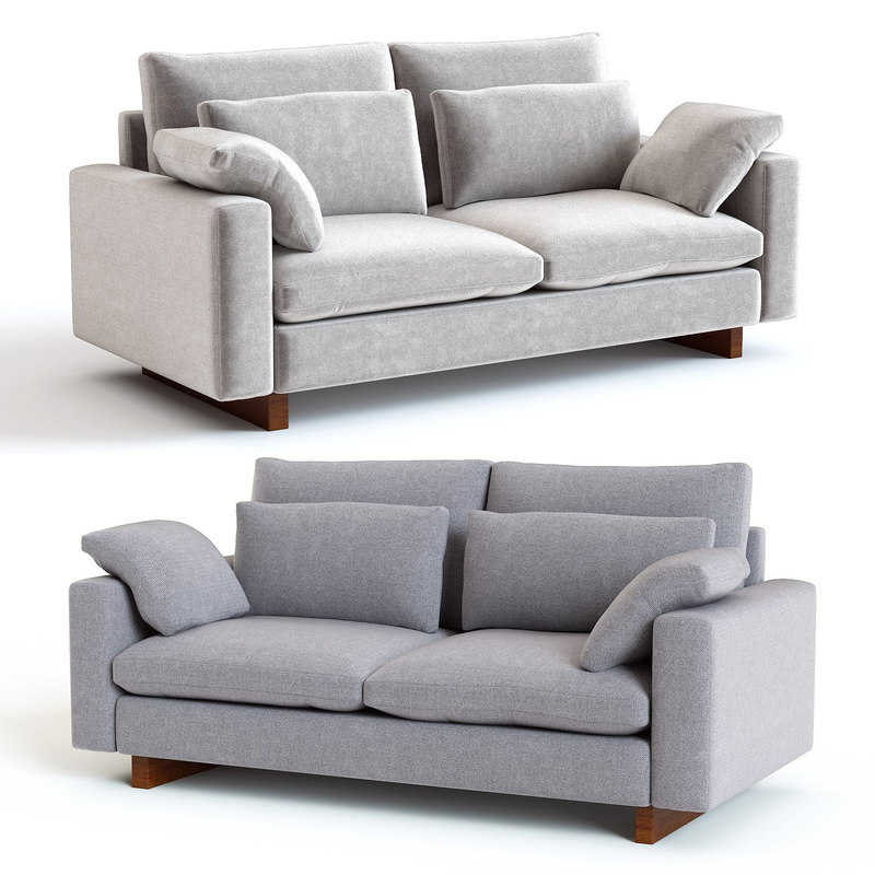 3d West Elm Harmony Sofa Model Turbosquid 1397337