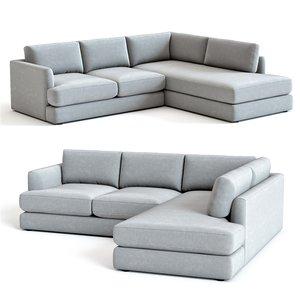 3D west elm haven sectional sofa