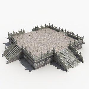 3D stone platform