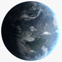 3D 16k photorealistic earth
