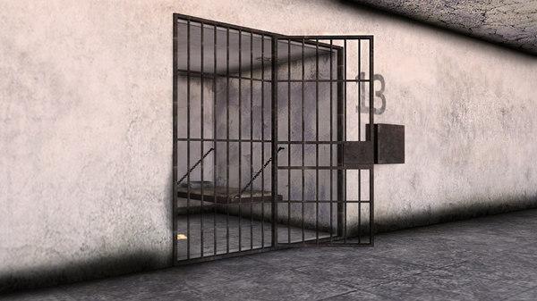 3D prison scene model