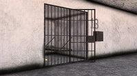 Old Prison Jail Cell Scene