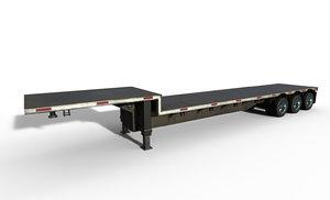 flatbed trailer 3D model