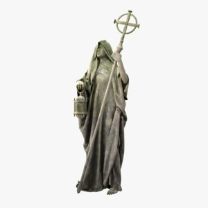 old mossy statue holy 3D model