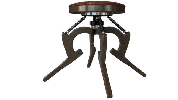 chair shock absorbers 3D model