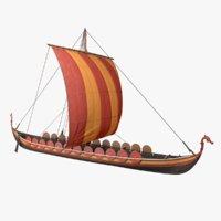 3D ship viking