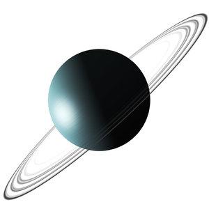 3D realistic uranus planet