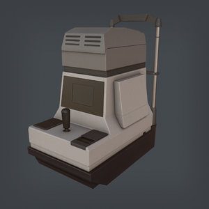 keratometer ophthalmometer 3D model