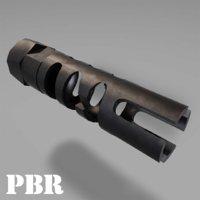 3D muzzle break - recoil