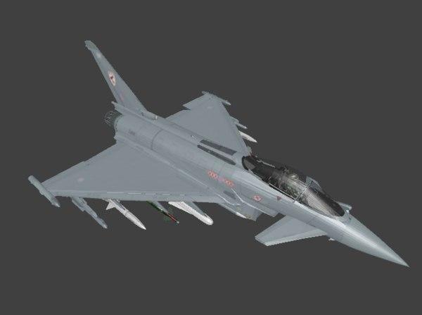 3D eurofighter fighter model