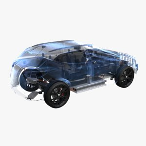 rwd hybrid chassis 3D model