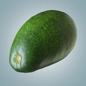 avocado 1 polly 3D