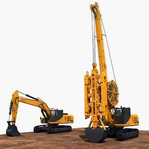 construction machinery 3 3D model