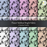 Flower Webbed Bright Seamless Textures