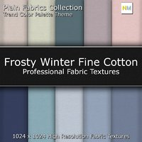 Frosty Winter Color Palette Fine Seamless Textures