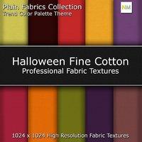 Halloween Color Palette Fine Cotton Seamless Fabric Textures