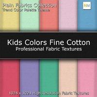 Kids Color Palette Fine Cotton Seamless Fabric Textures
