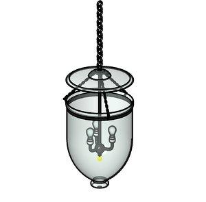 Hurricane lamp Revit Family