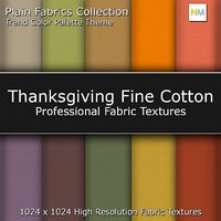 Thanksgiving Color Palette Fine Seamless Fabric Textures