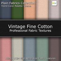 Vintage Fine Cotton Color Palette Seamless Fabric Textures