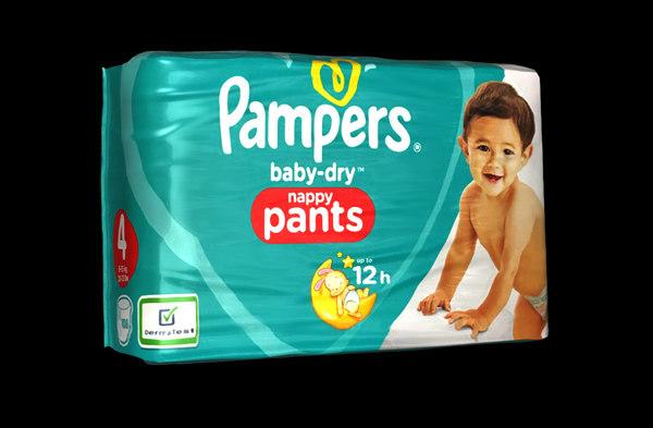 3D model diaper pack
