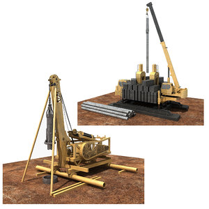 3D construction machinery 2 model