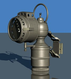 acetylene bicycle lamp 3D model