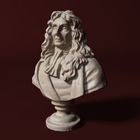 Jean De la Fontaine Bust