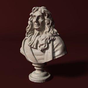 jean la fontaine 3D model