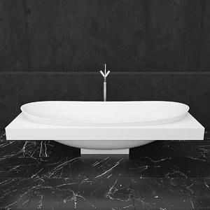 bath ceramica laminia io 3D model
