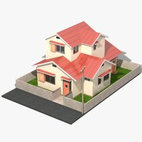 japanese anime house 3D