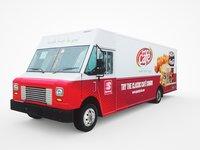 3D speedy cafe food truck model