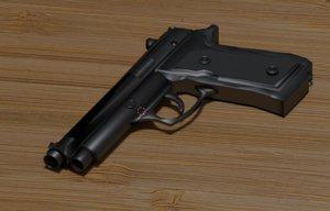 beretta m9 3D model