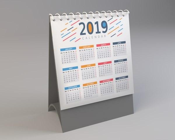 3D calendar model