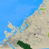 SHARJAH UAE CITY 3D MODEL