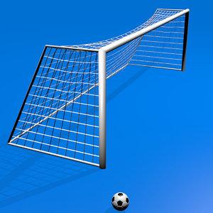 soccer goal ball 3D model