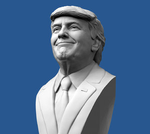 donald trump bust 3D model