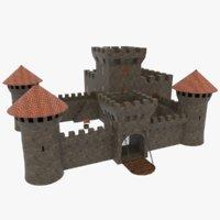 3D castle stone model