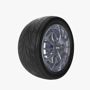 real car wheel 3D model