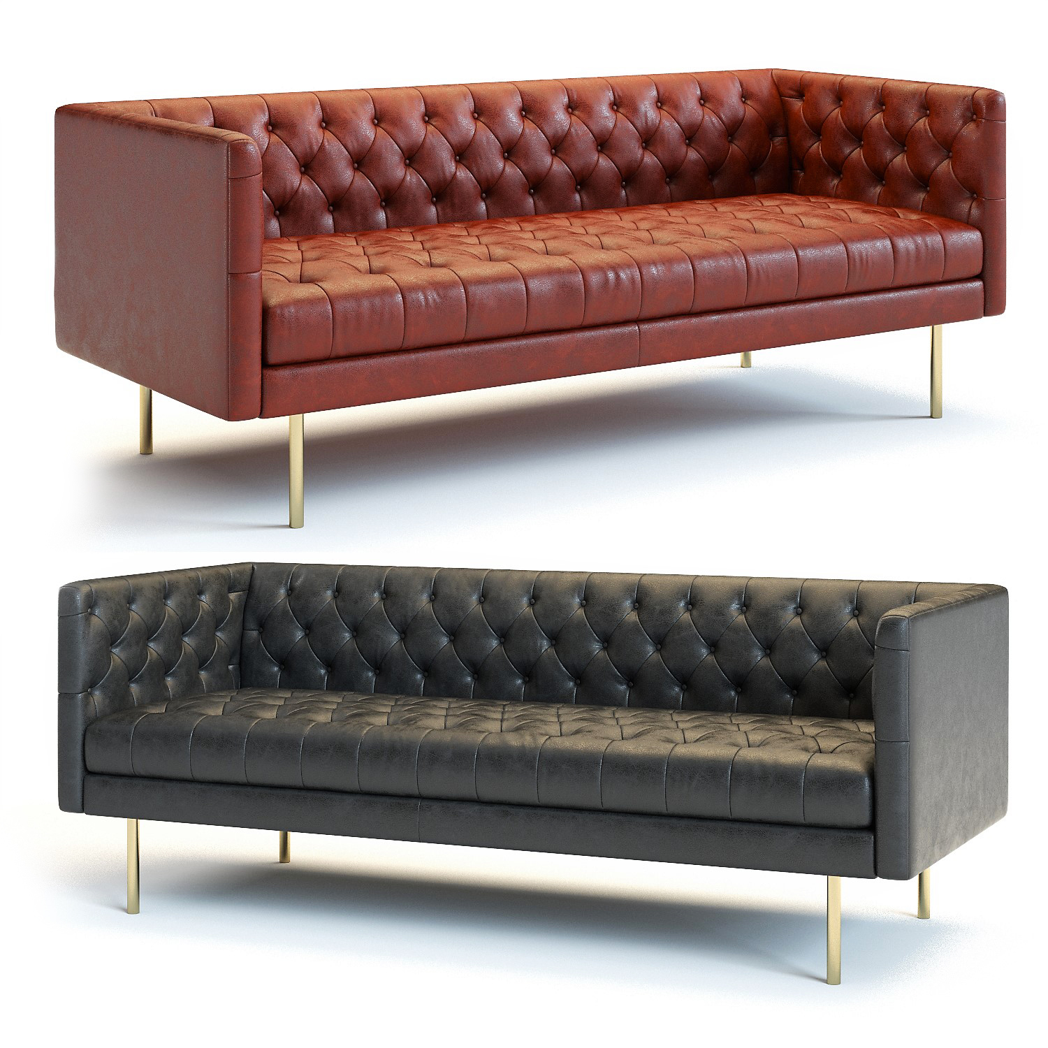 Wondrous West Elm Modern Chesterfield Sofa Gmtry Best Dining Table And Chair Ideas Images Gmtryco