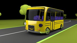 cartoon bus 3D model